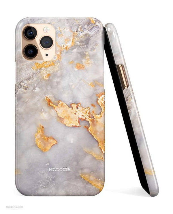 Golden Clouds Marble iPhone Case hide
