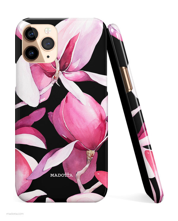 Magnolia Black iPhone Case hide