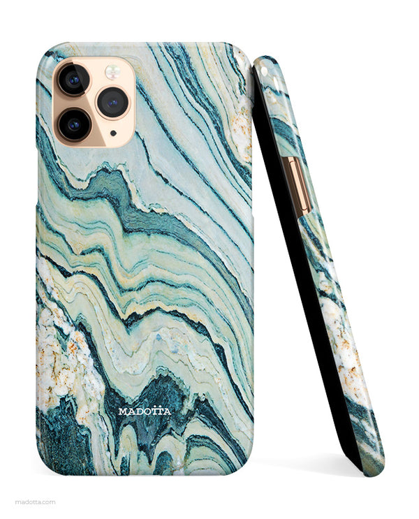 Green Marble iPhone Case hide