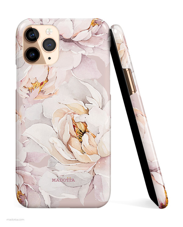 White Peonies iPhone Case hide