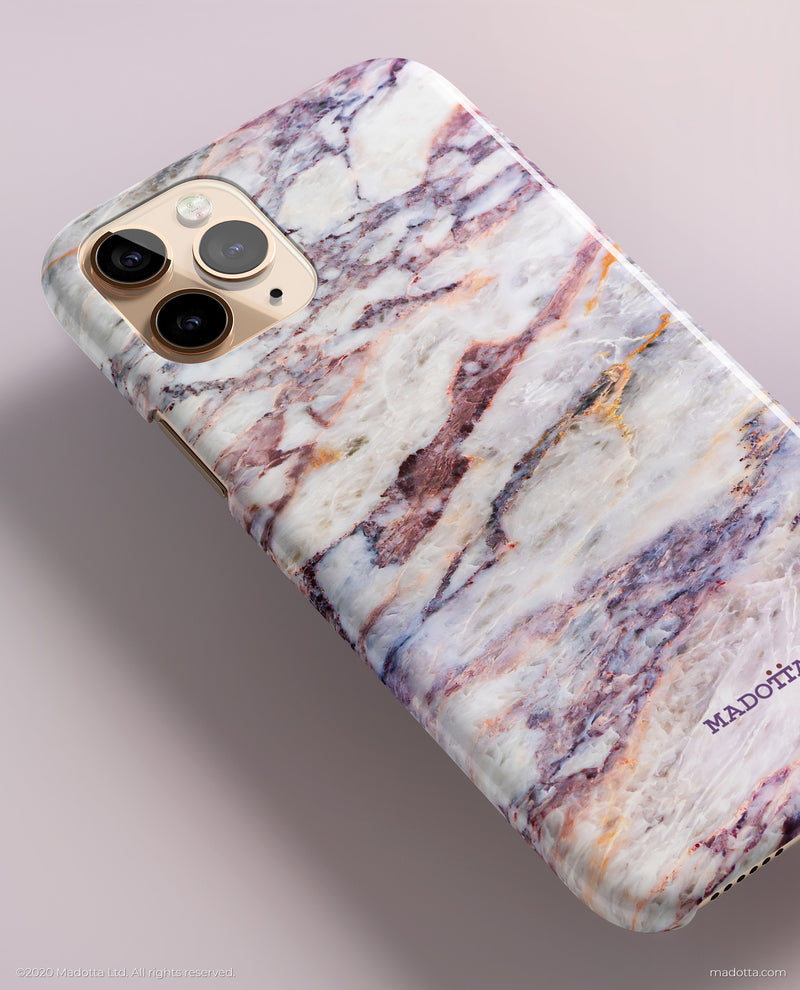 Purple Reign Marble iPhone Case