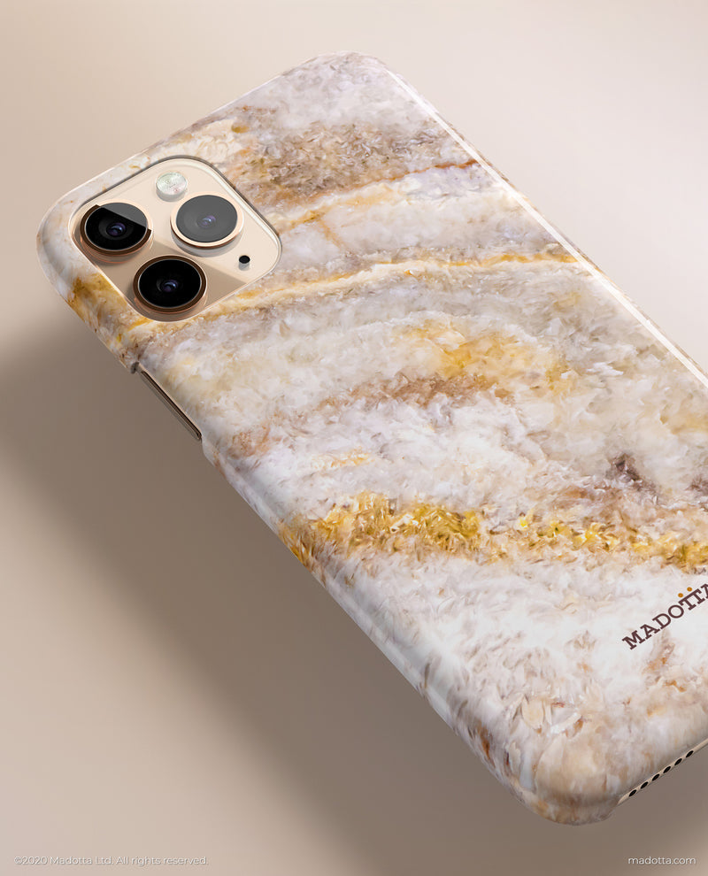 Golden Sand Marble iPhone Case