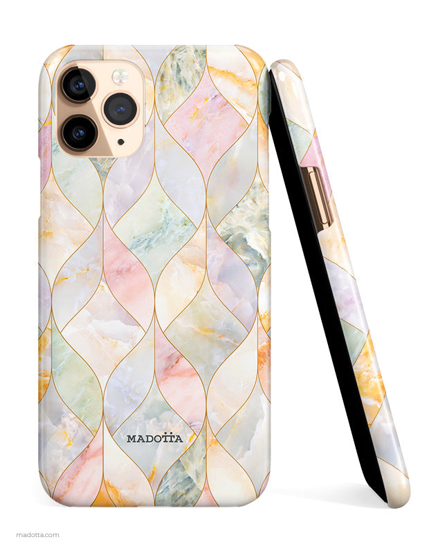 Pastel Mosaic Marble iPhone Case