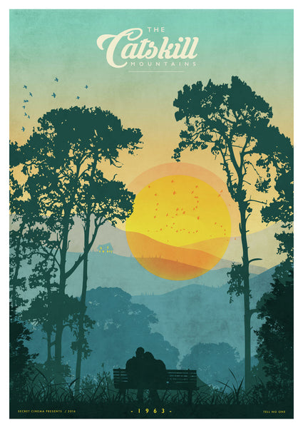 The Catskills (Blue) - Giclée Print