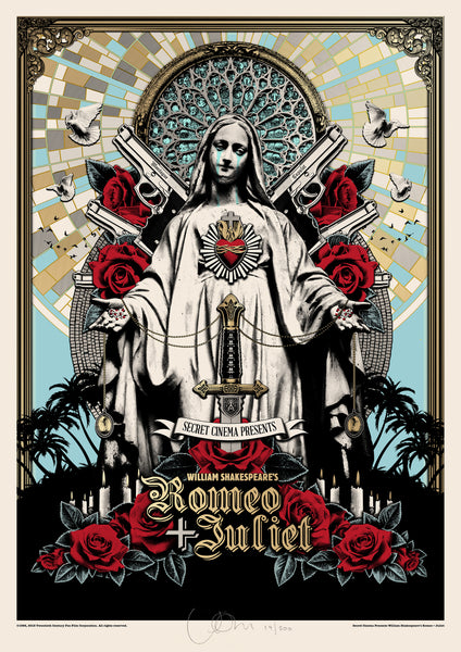 LIMITED EDITION Screen Print - William Shakespeare's Romeo +Juliet