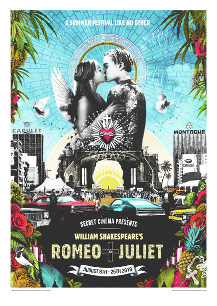 LIMITED EDITION William Shakespeare's Romeo + Juliet - Giclée Print