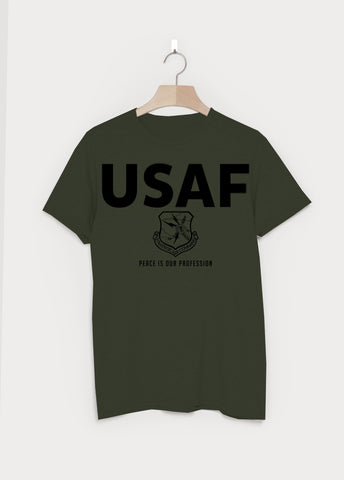 USAF Military T-shirt - Camo Green - Tell No One - Dr Strangelove, January 2016