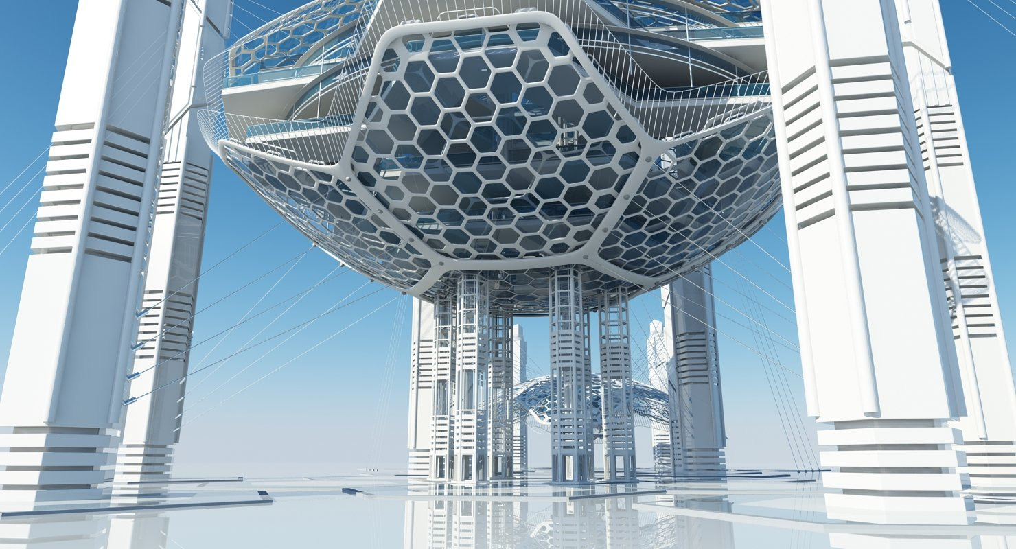 Futuristic Skyscraper HD 16 - WireCASE