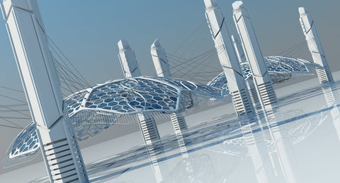 Futuristic Architectural Structure 15 - WireCASE