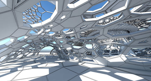 3D Futuristic Architectural Dome Interior  2