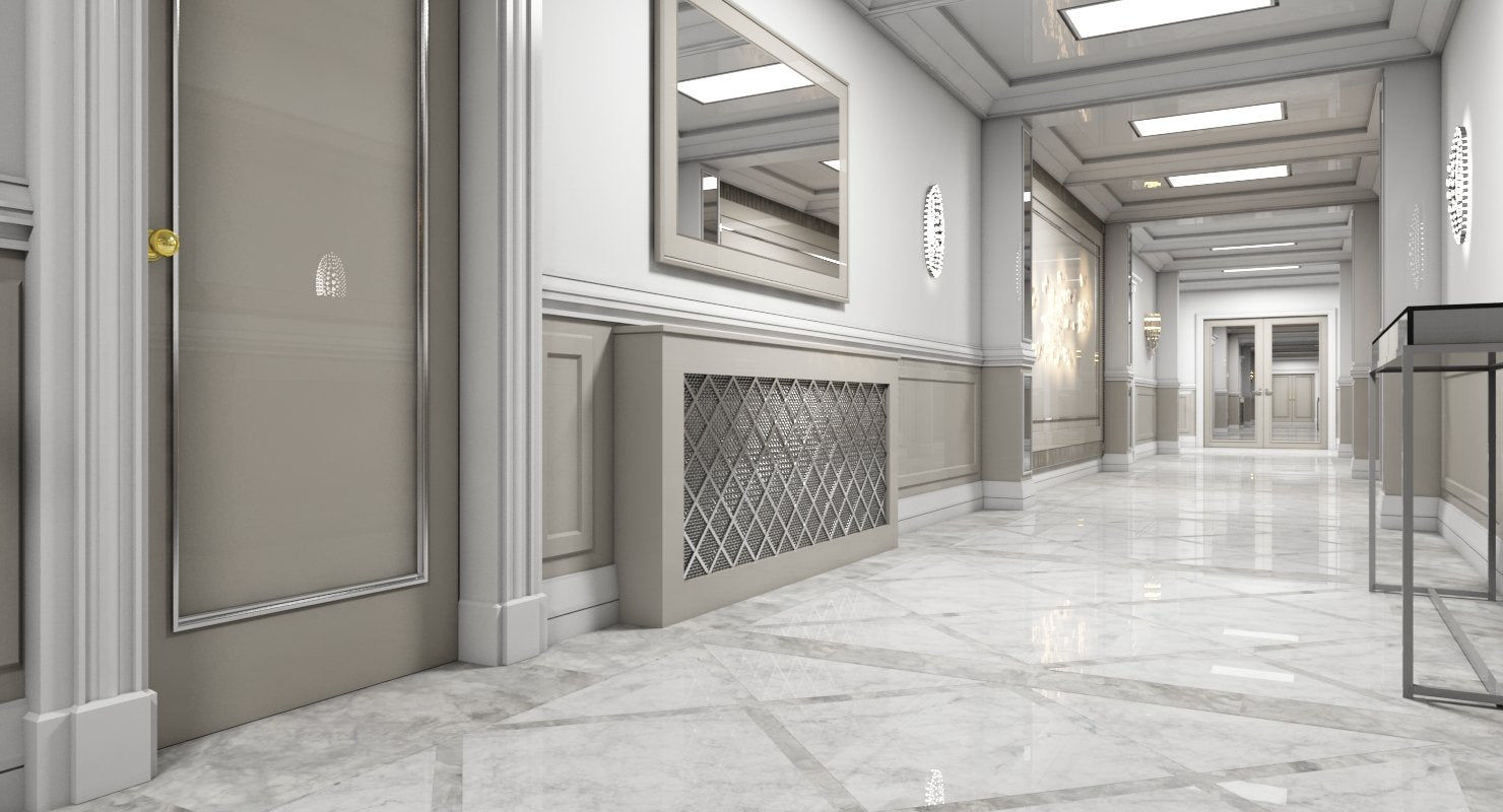 3D model Grand Corridor Tileable Kit 2 - WireCASE