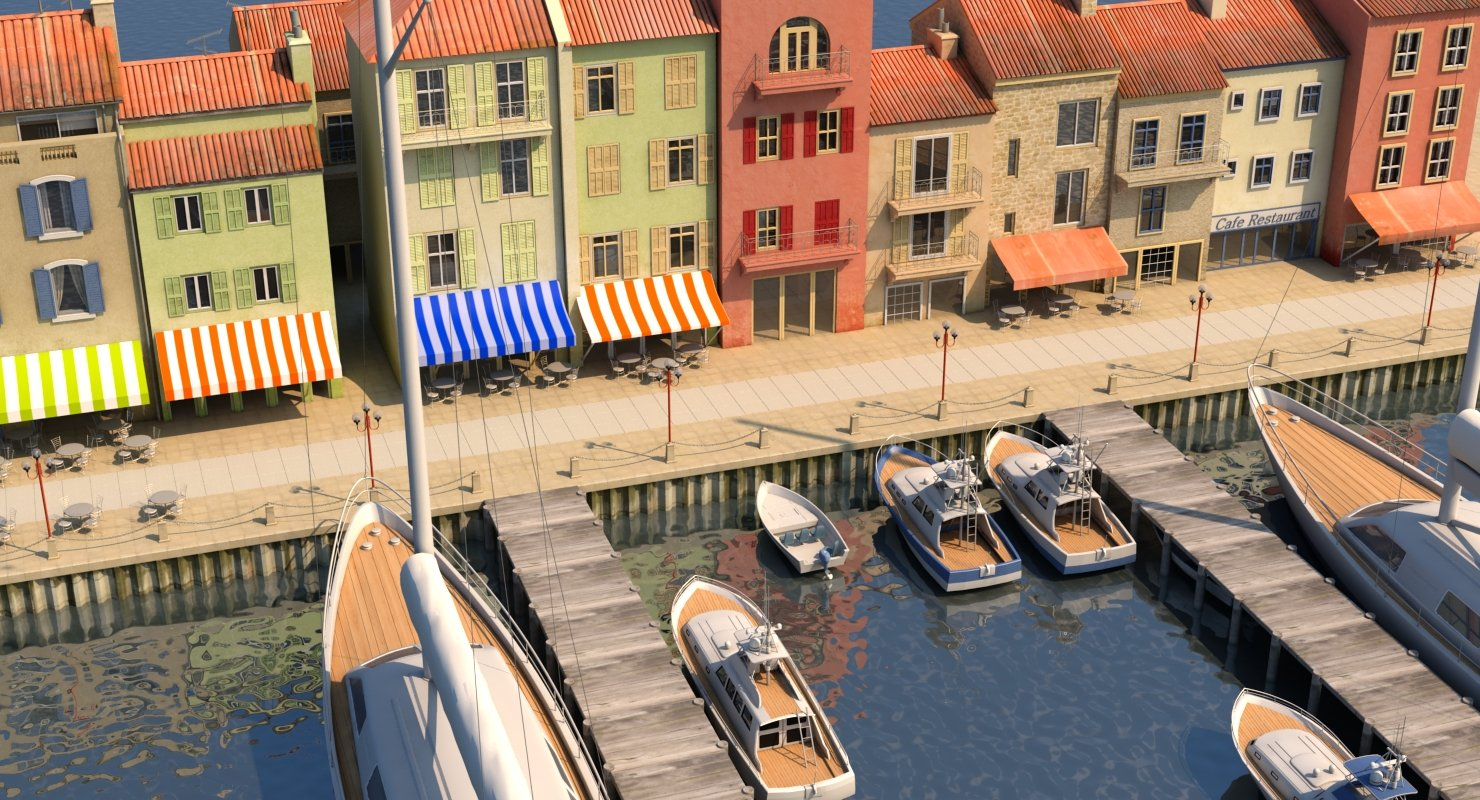 3D City Port 2 - WireCASE