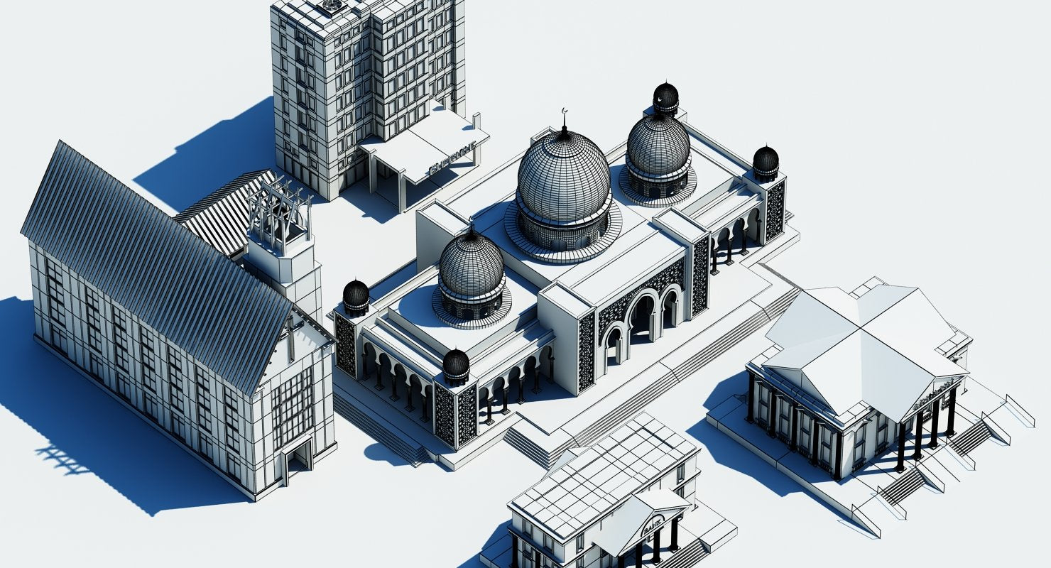Public Buildings Symbol 2 3D Model - WireCASE