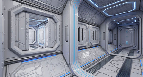Sci-Fi Interior 1 - WireCASE