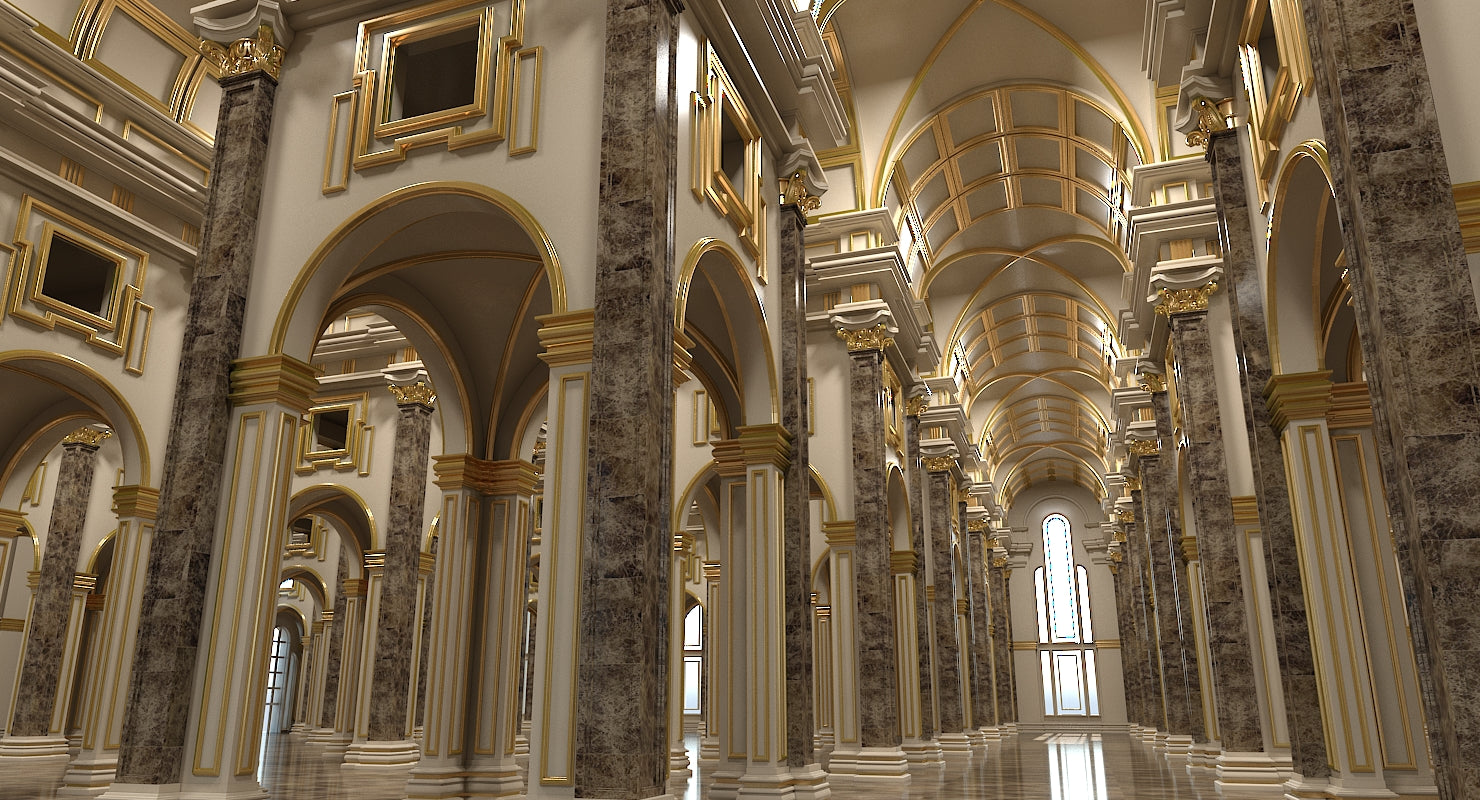 3D Classical Historic Interior