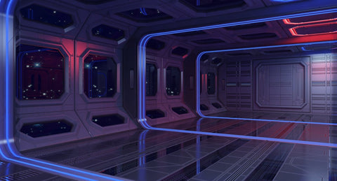 Sci Fi Interior 3 3D Model - WireCASE