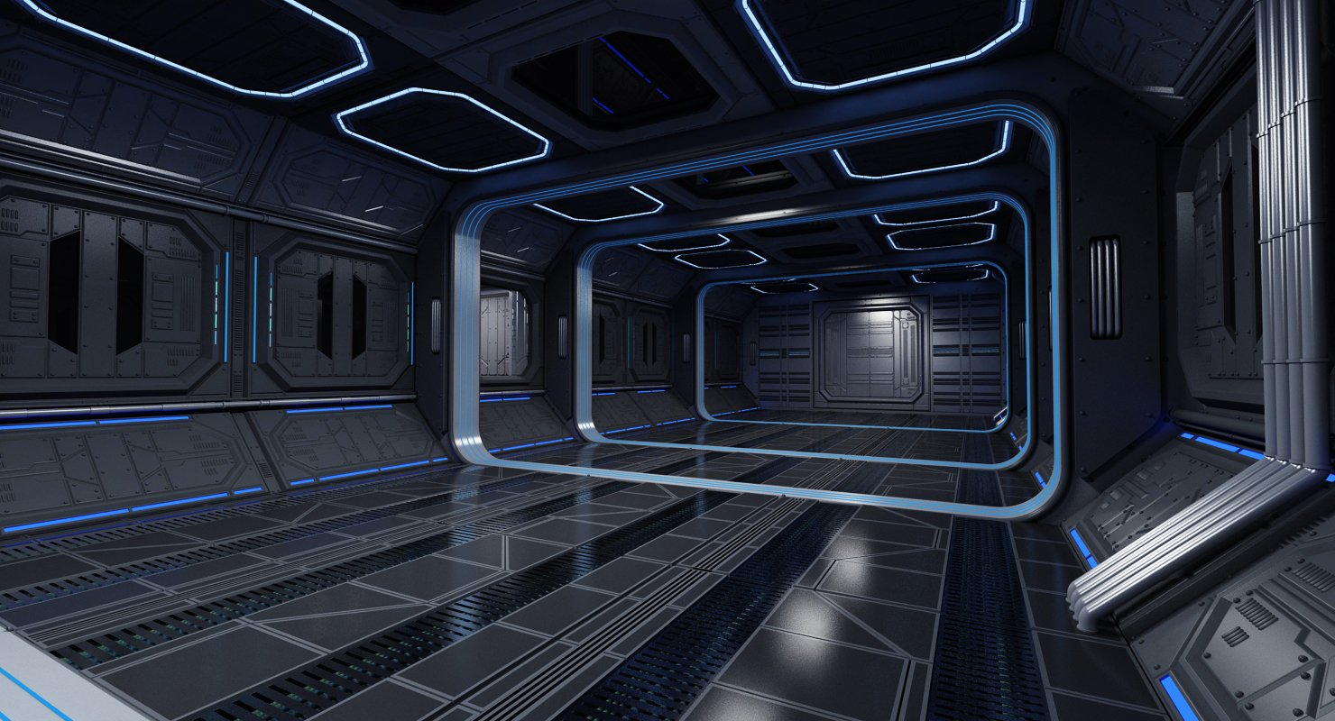 Sci-Fi Interior 2 - WireCASE