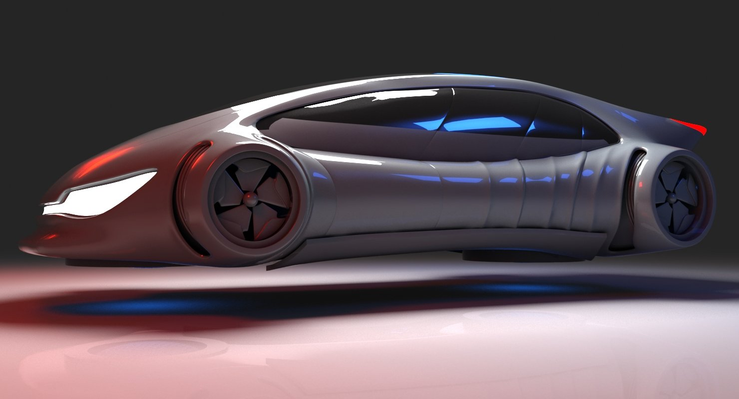 Futuristic Car 7 - WireCASE