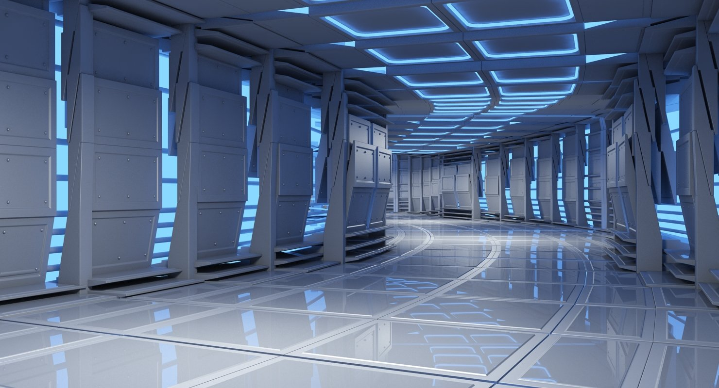 Sci-Fi Futuristic Tunnel 8 3D Model - WireCASE