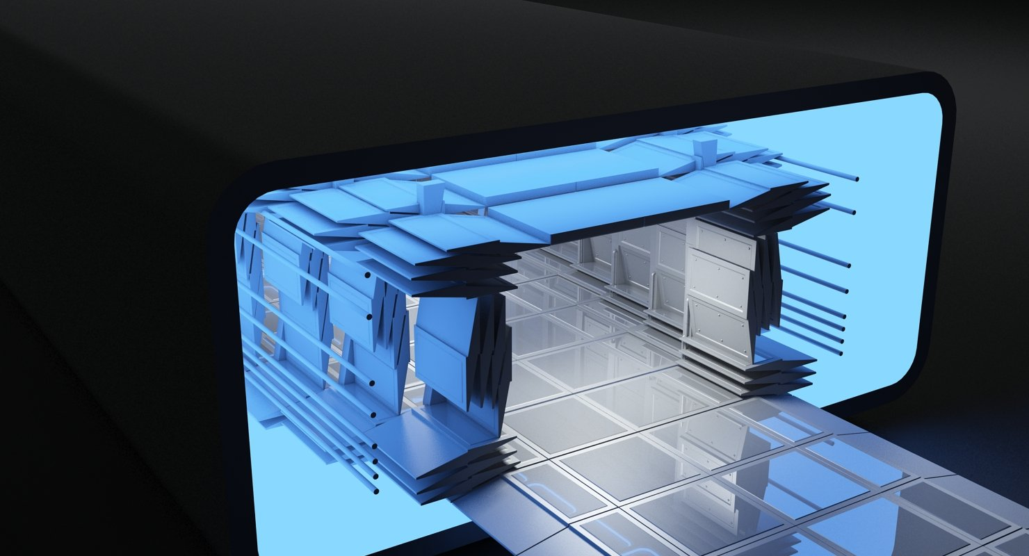 Sci-Fi Futuristic Tunnel 8 3D Model