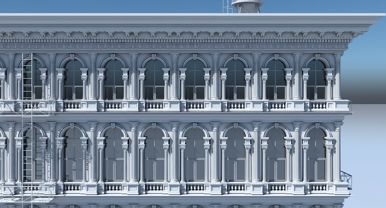 Commercial Building Facade 16 - WireCASE