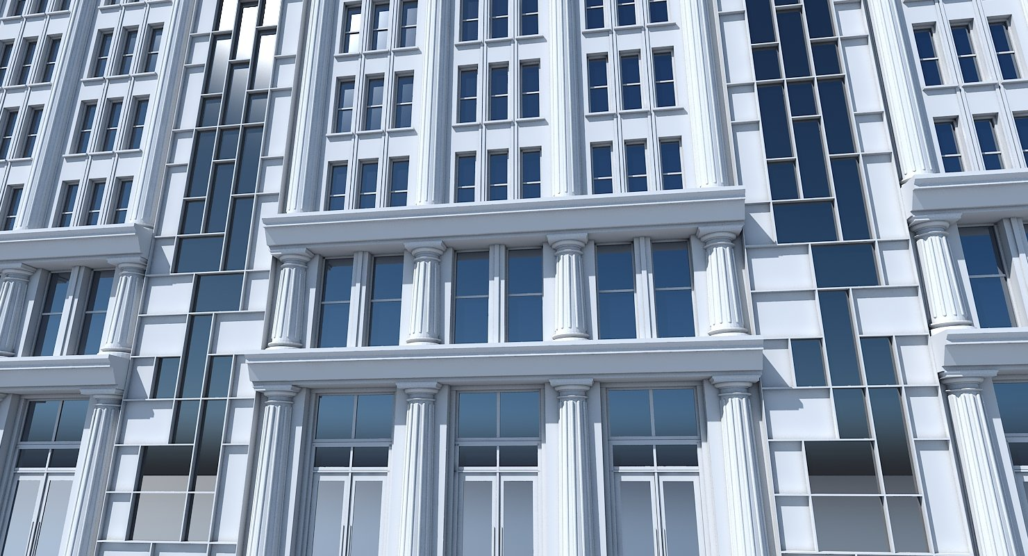 Commercial Building Facade 22 - WireCASE
