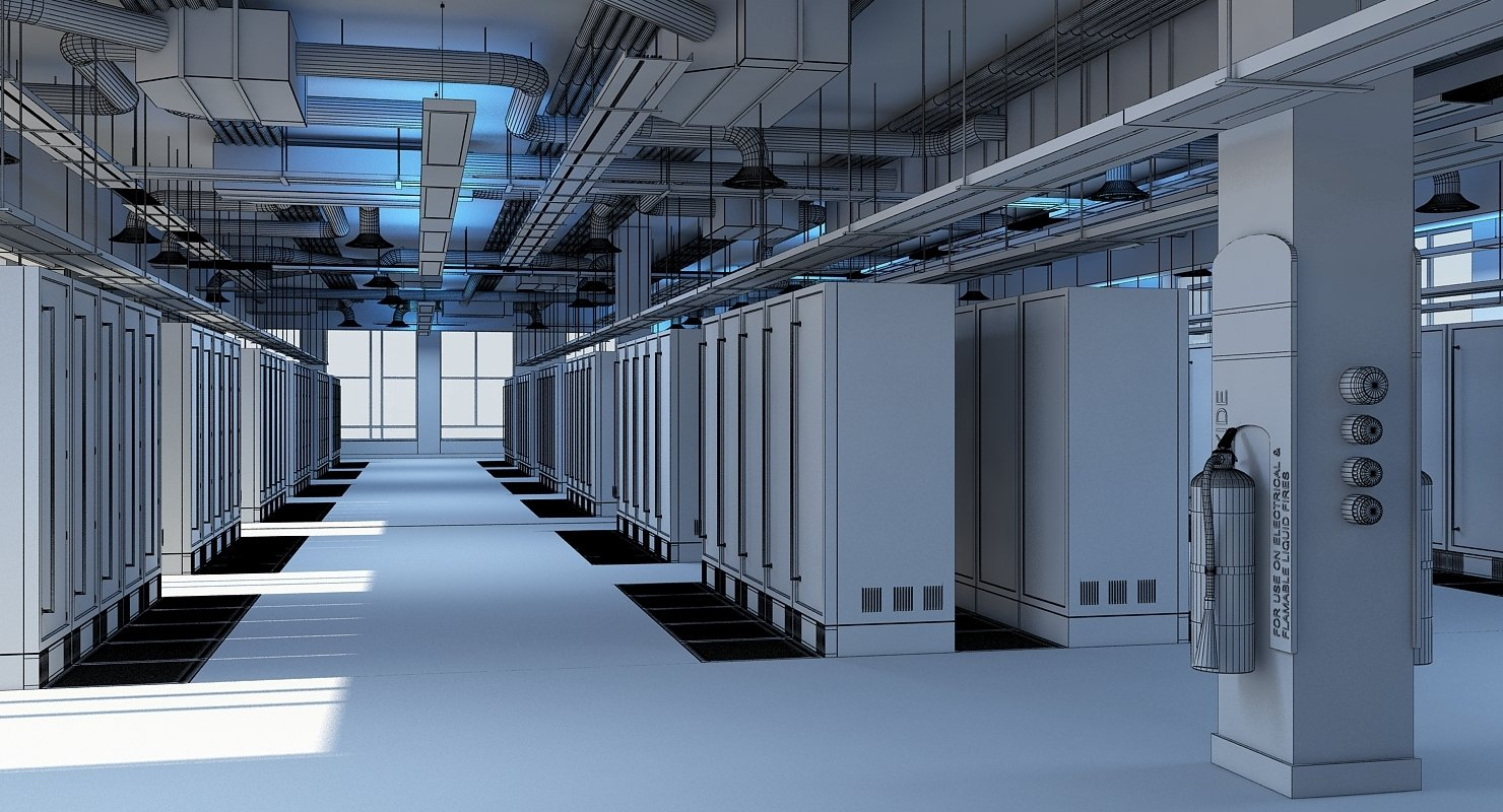Data Communication Server Room 3D Model - WireCASE