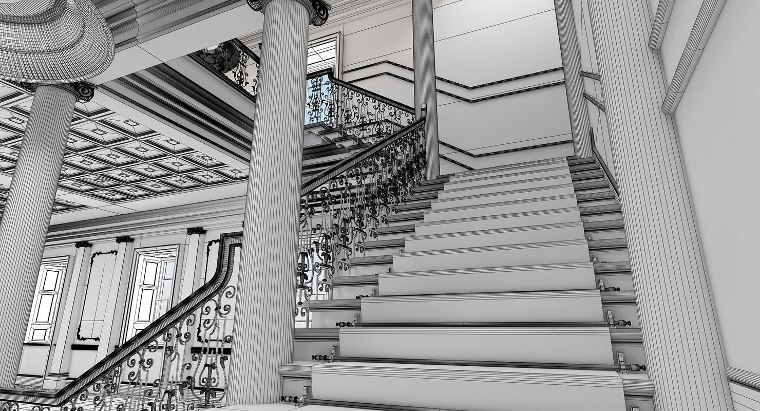 Grand Hall Entrance Staircase - WireCASE