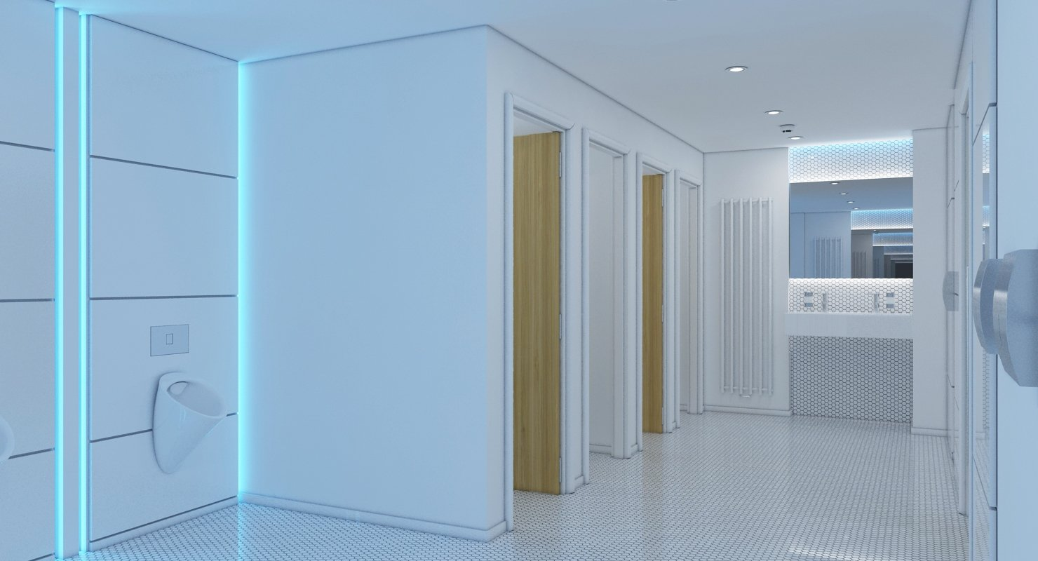 3D model Rest Room 2 - WireCASE