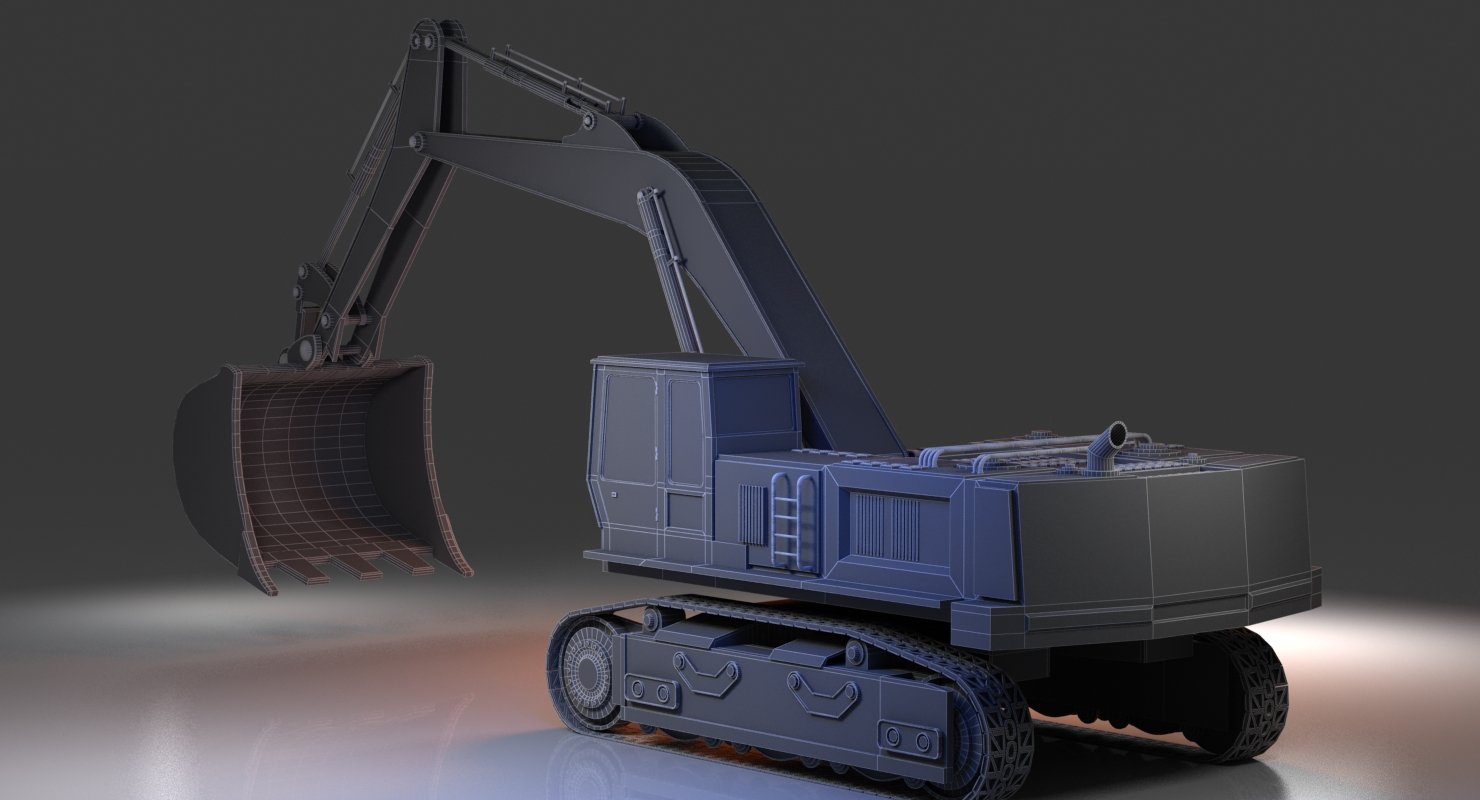 Digger Construction Vehicle - WireCASE