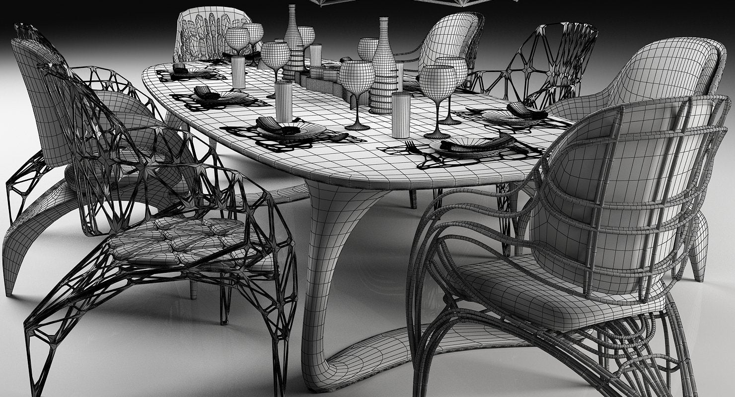 Futuristic Dining Set - WireCASE