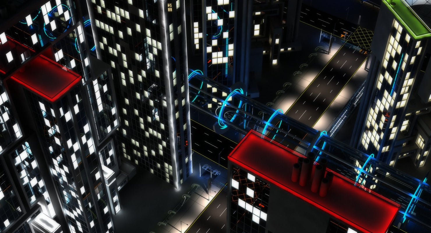 3D Future City HD 6 Night - WireCASE