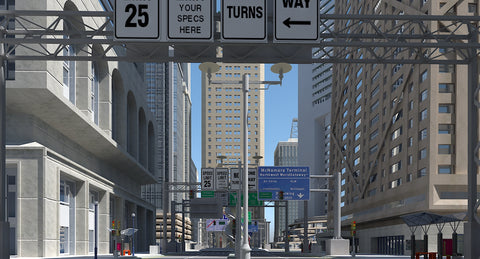 3D City Intersection 3