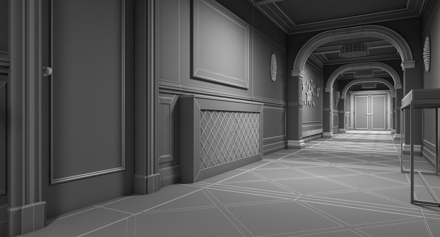 Grand Corridor Interior Tileable - WireCASE