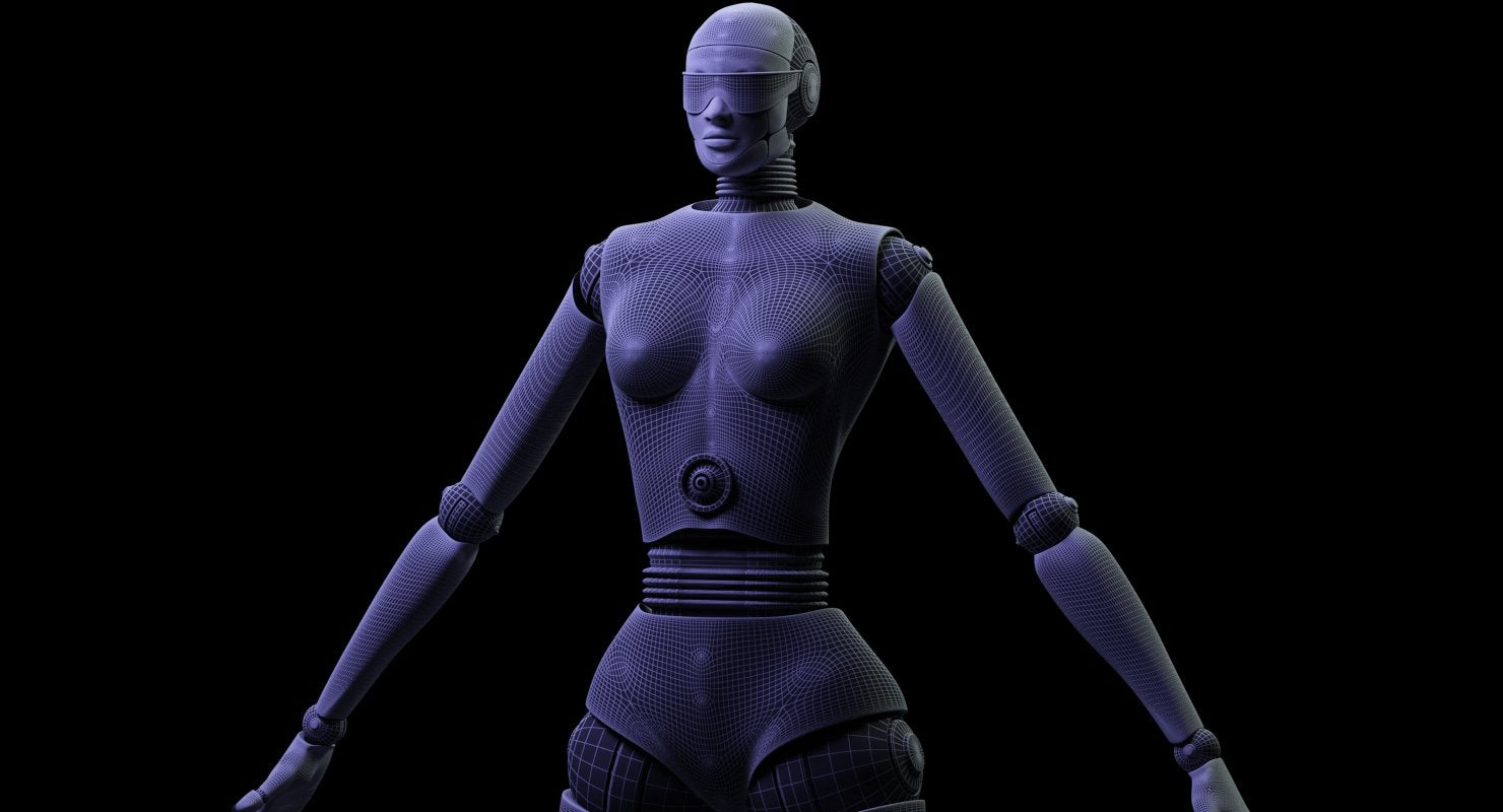 FEMALE ROBOT 3D MODEL - WireCASE