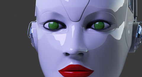 Cyborg Head 3D Model - WireCASE