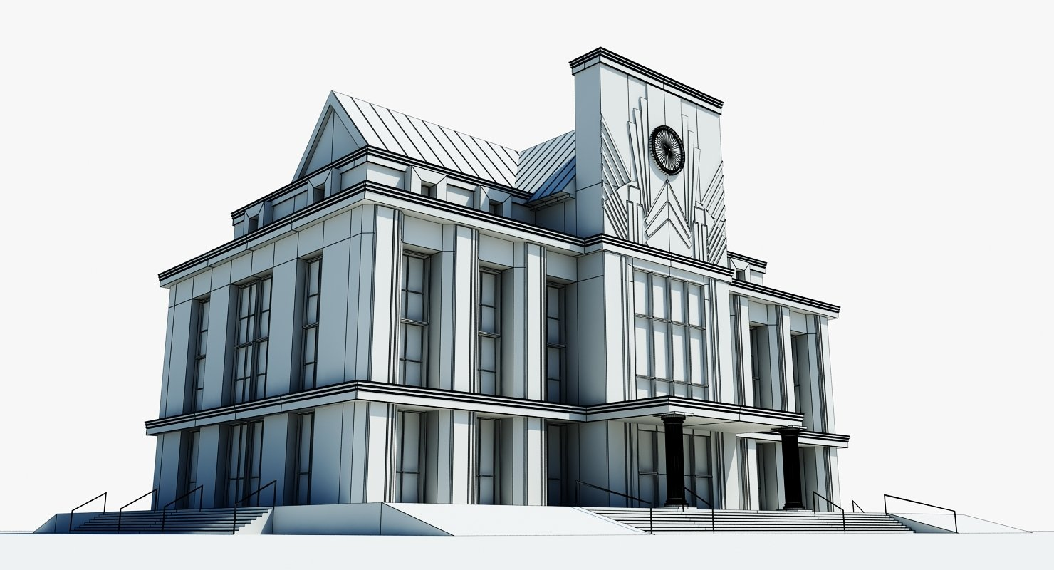Train Station Clock Building - WireCASE
