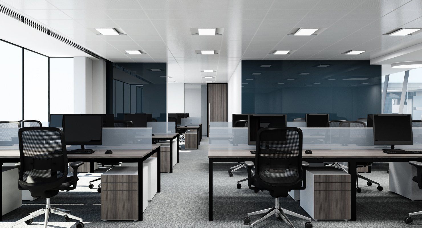 Full Office Interior 3D Model - WireCASE