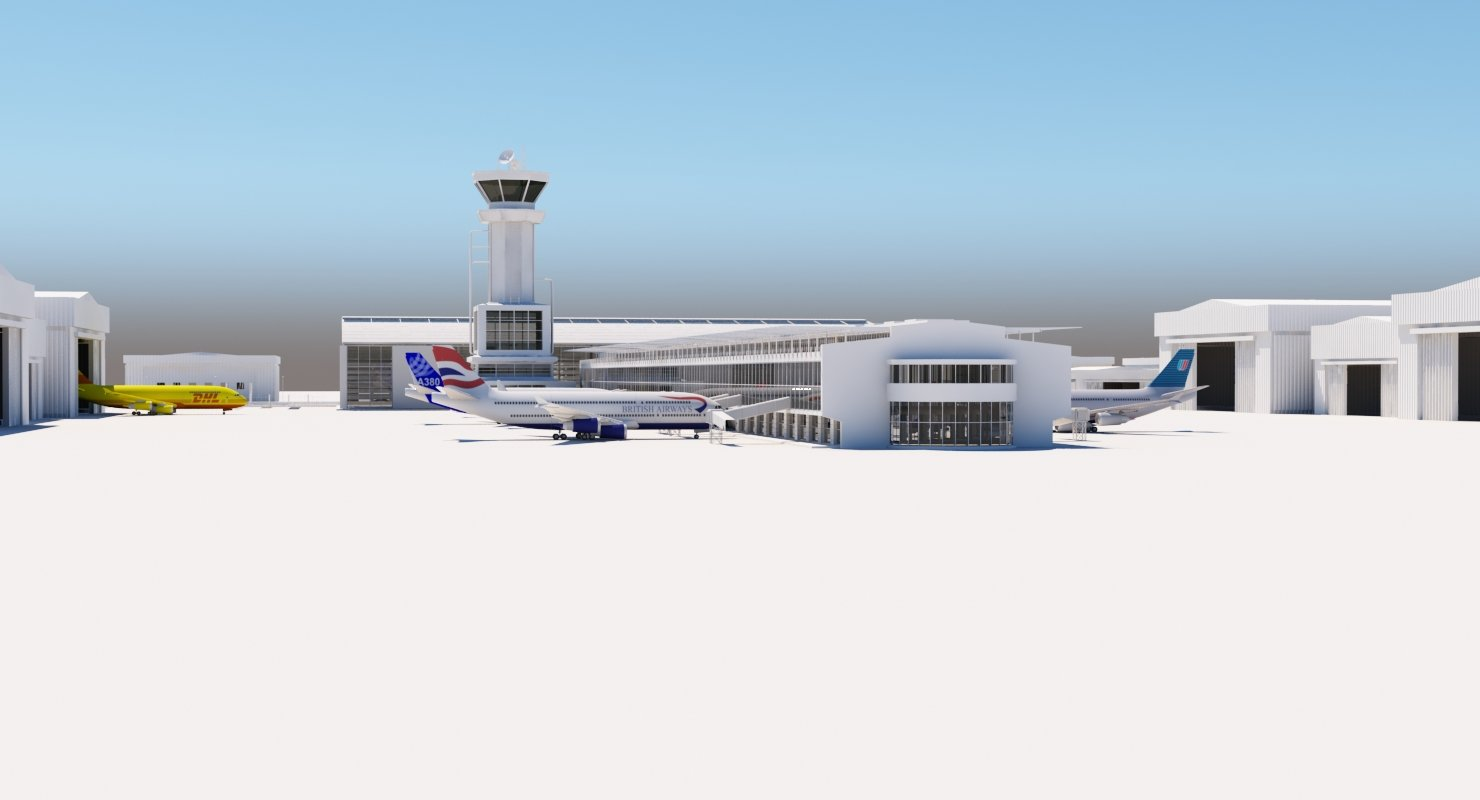 Airport Buildings Layout - WireCASE