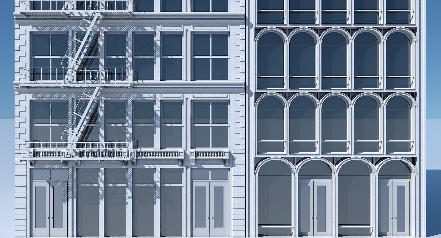 Commercial Building Facade 10 - WireCASE