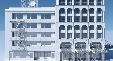 Commercial Building Facade 12 - WireCASE