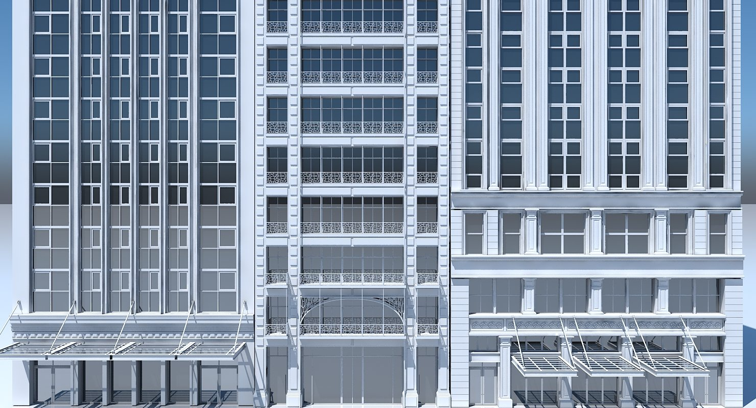 Commercial Building Facade 15 - WireCASE