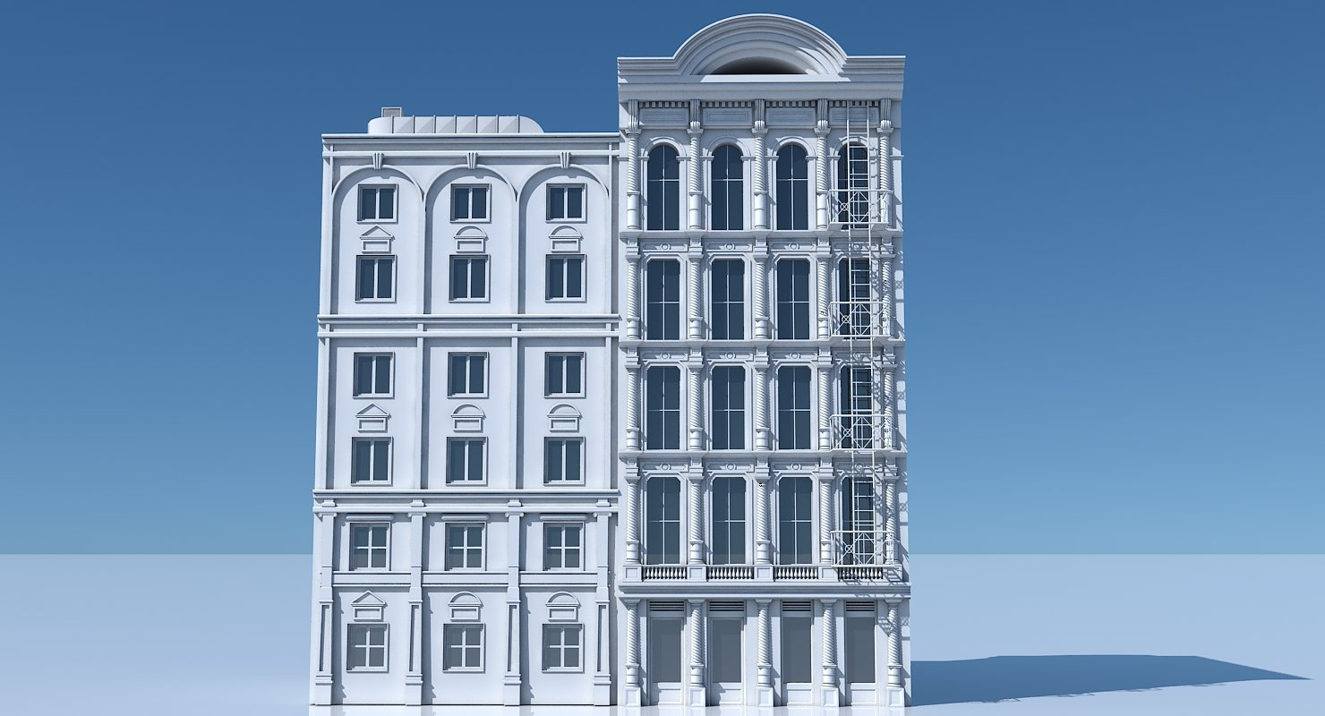 Commercial Building Facade 03 - WireCASE