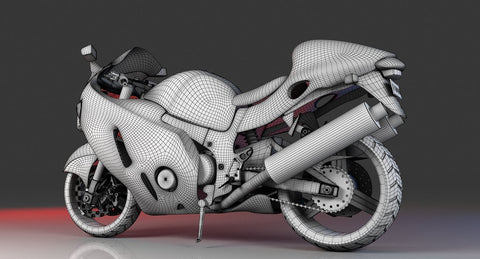 Free Motor Bike 3D Model - WireCASE