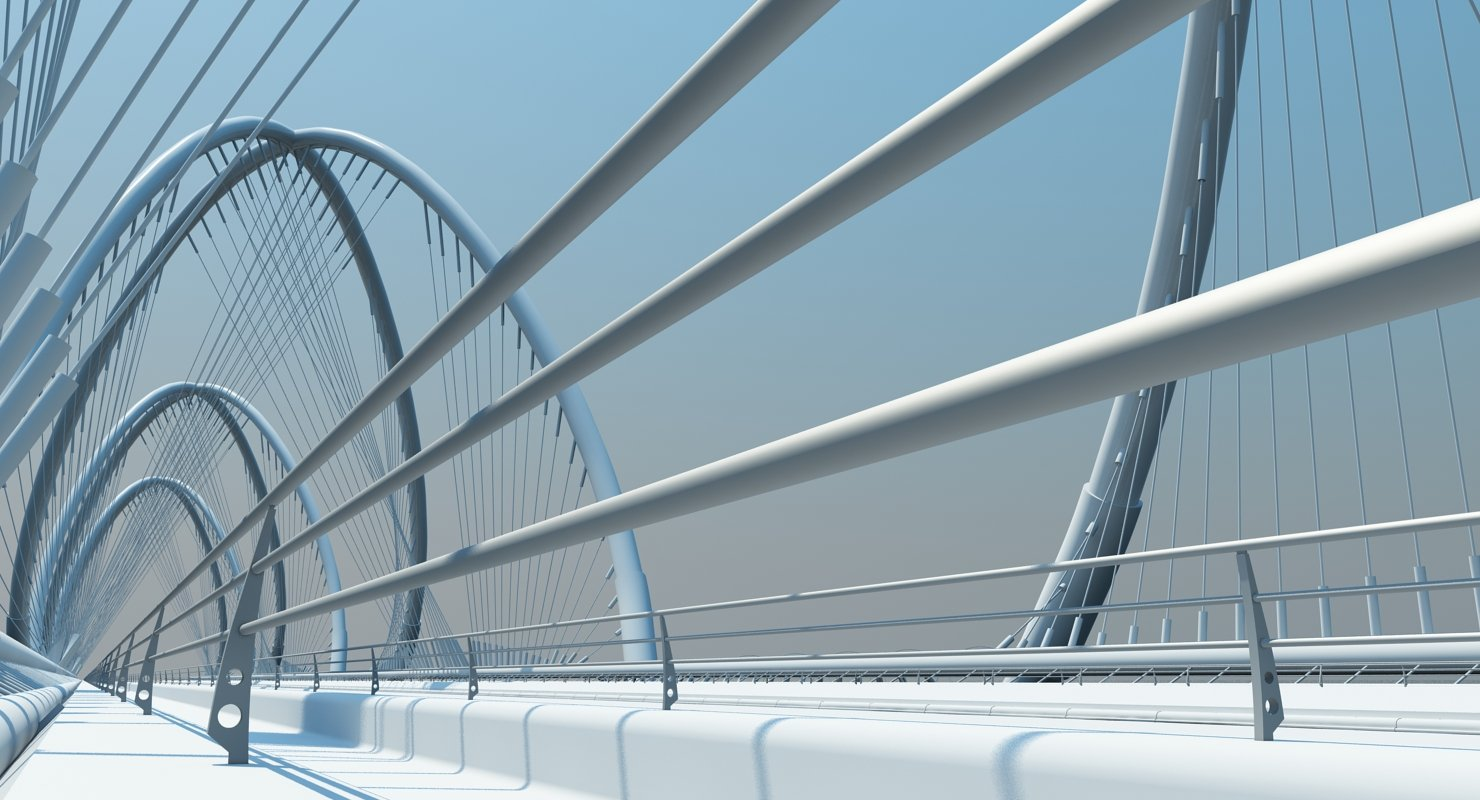 Futuristic Suspension Bridge 1 HD - WireCASE