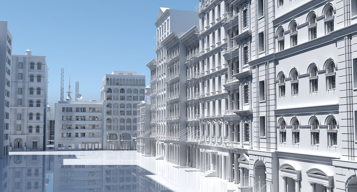 Street Building Facade Collection - WireCASE