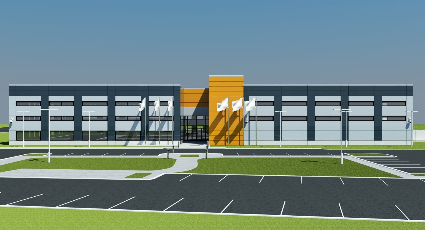Warehouse Building Exterior - WireCASE