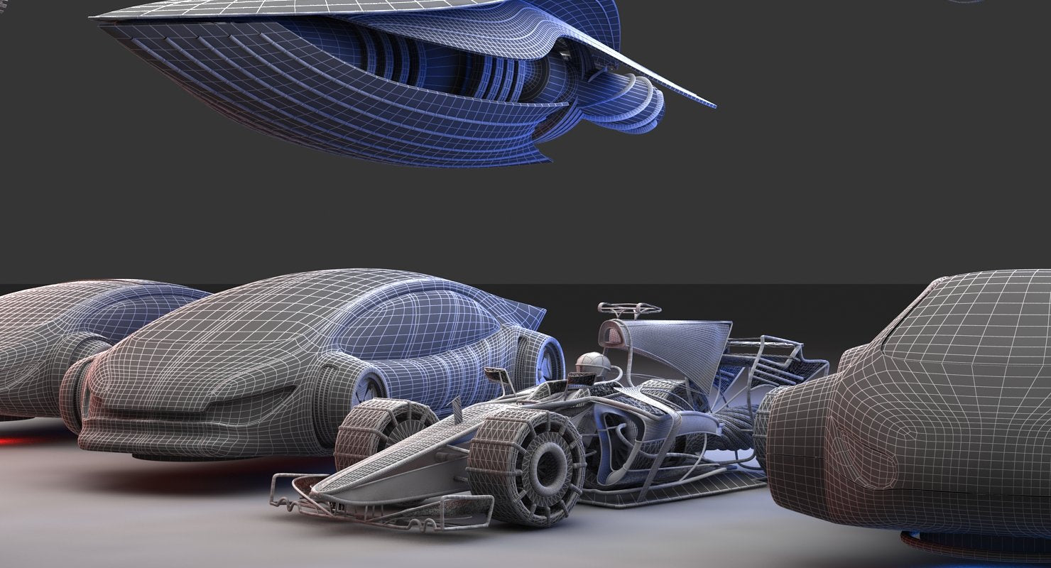 Future Transport Vehicles 3D - WireCASE