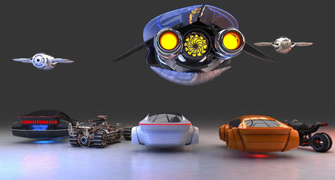 Future Transport Vehicles 3D