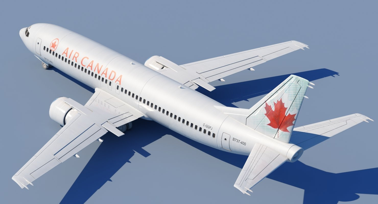 737 400 Air Canada 3D model - WireCASE